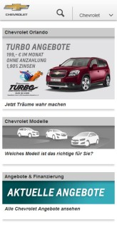 Chevrolet Germany Mobile