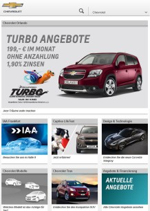 Chevrolet Germany Tablet
